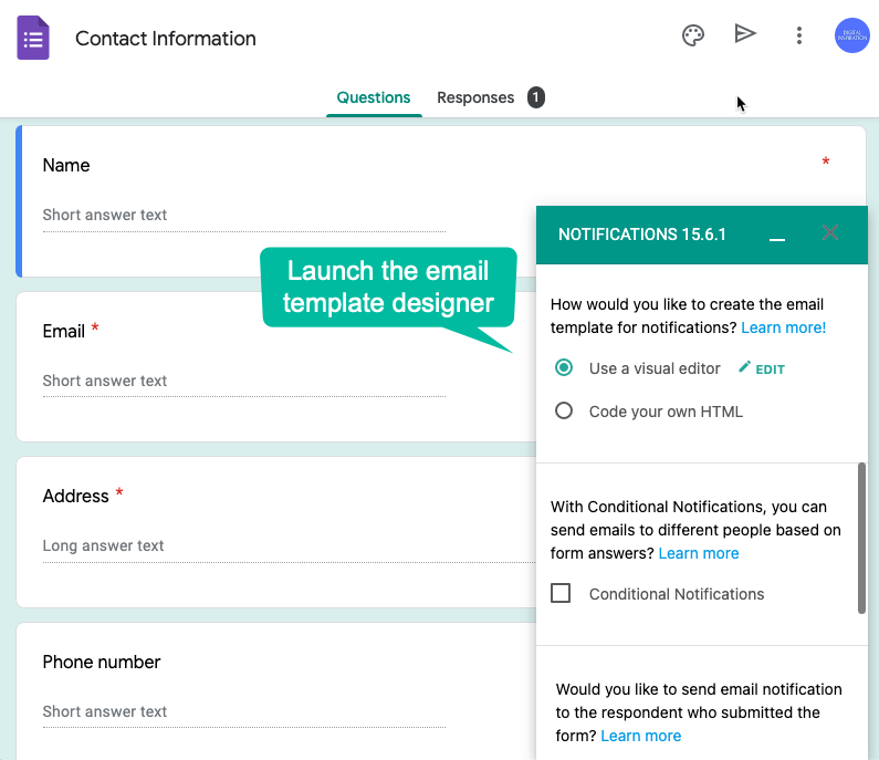 Launch Email Template